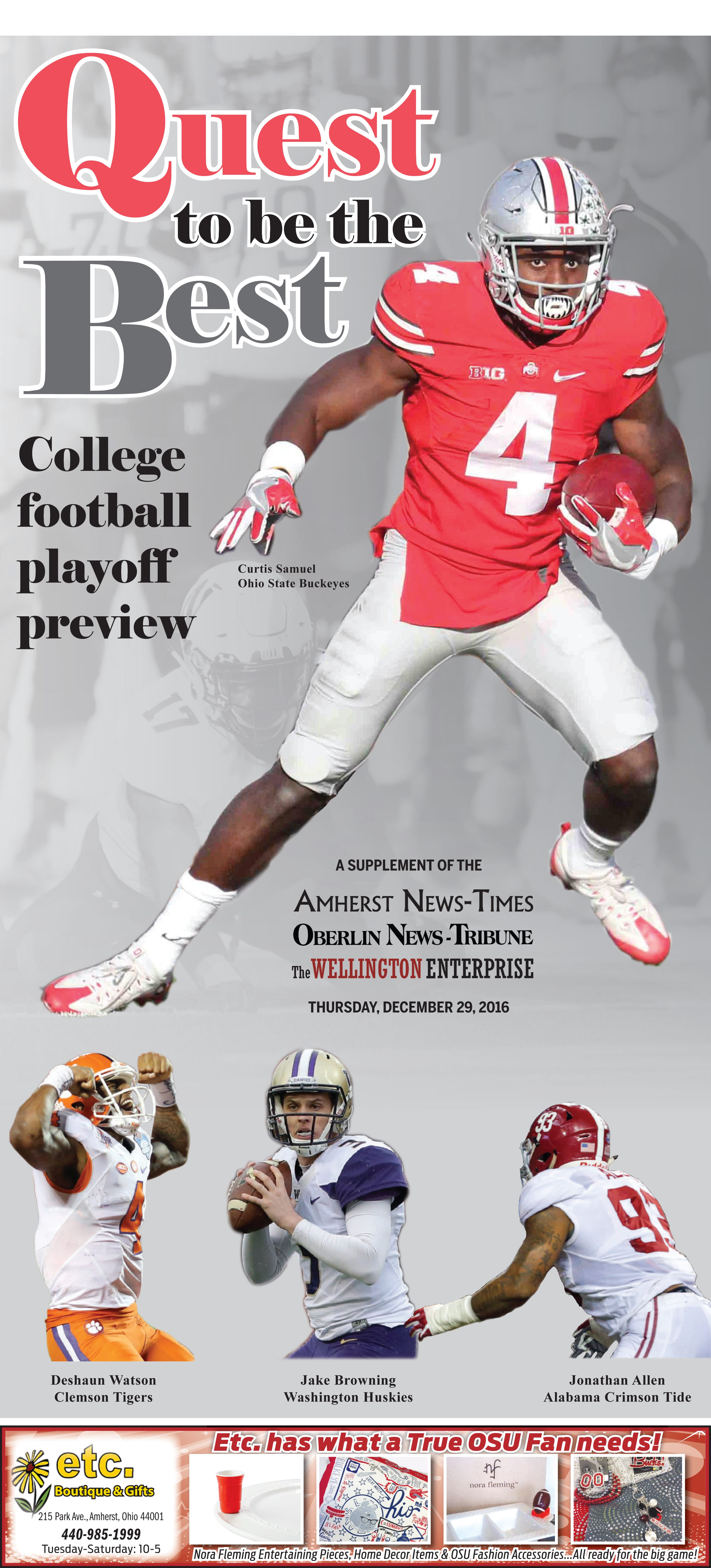 College Football Playoffs Preview 2016