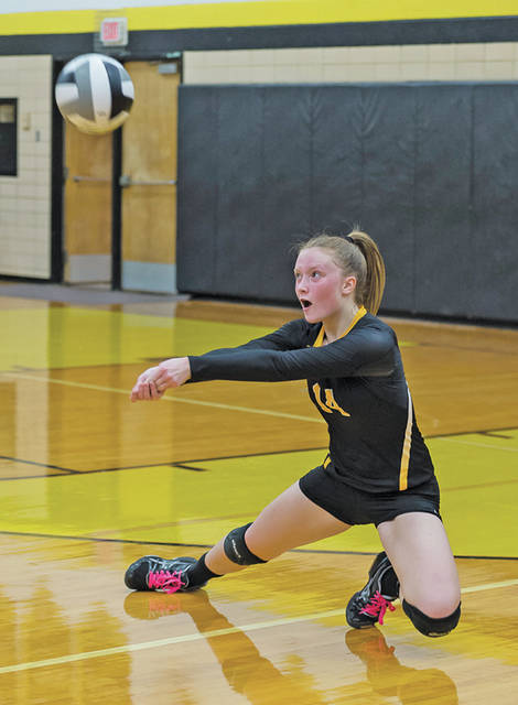 Black River's Ashley Kalman keeps the ball in play.