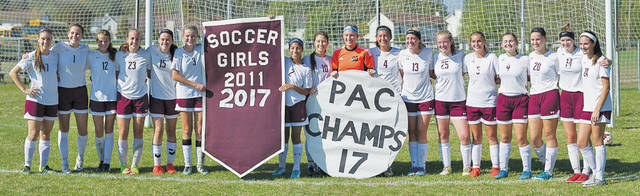 The Wellington 2017 Patriot Athletic Conference champion girls soccer team.