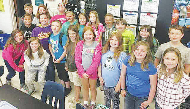 Fifth-grade peer leaders at Black River Elementary School get ready to lend a helping hand.