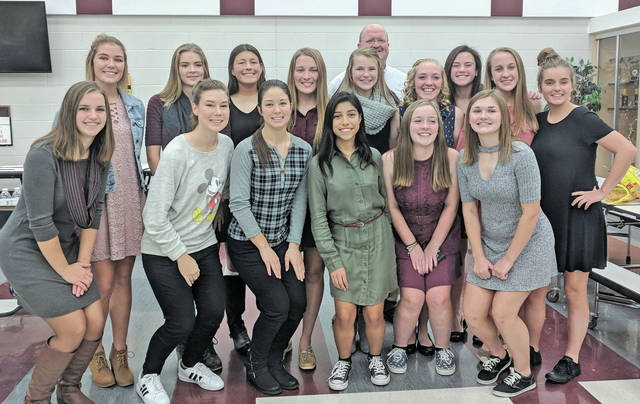 The 2017 Dukes soccer team had a lot to celebrate this year, dominating opponents and seizing the Patriot Athletic Conference title. Not pictured: Lauren Alley and Jenna Krakomperger.