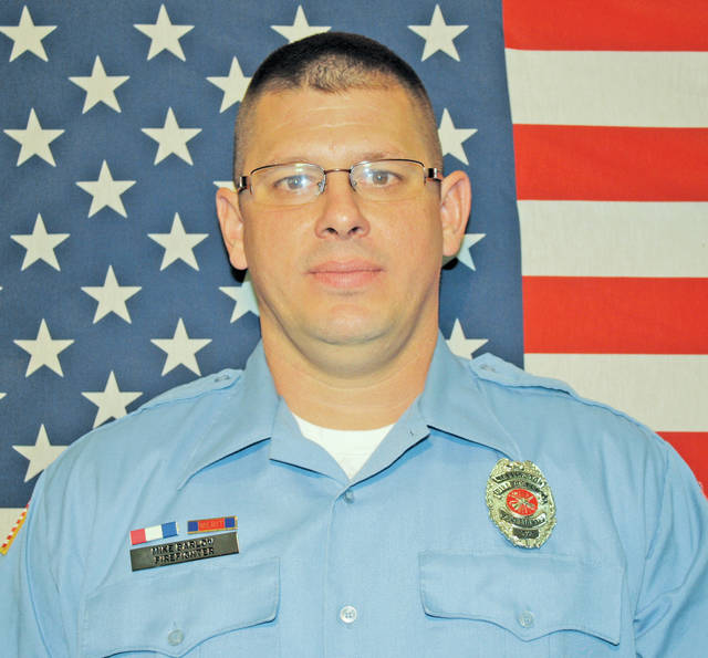 Mike Barlow was named Wellington's top firefighter of 2017, his second time earning the award. He has completed Ohio's top firefighter certification program and is grateful for his family's support.