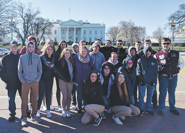 WHS students take in the sights of Washington, D.C., from outside the White House.
