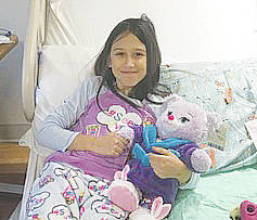 Olivia Smith, a second-grader at Westwood Elementary School, was diagnosed with leukemia in November.