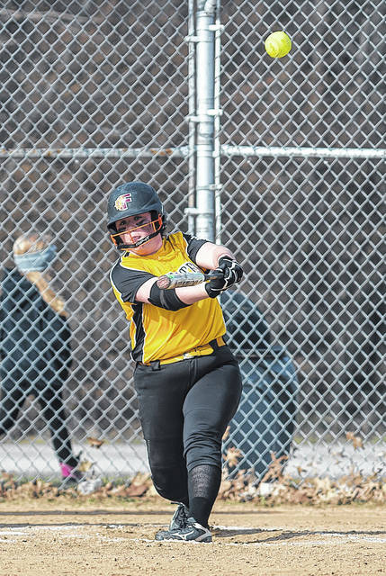 Black River's Kaitlyn Unangst sends this Fairview pitch over the fence for a two-run homer.