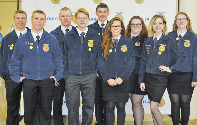 Pictured are (front) William Keller, Michael McDonald, Sydney Collier, Mercedes Murphy, (back) Thomas Keller, Aidan Marang, Don Sabella, Jessica Mileski, and Savannah Roby. Not pictured: Jesse Everson.