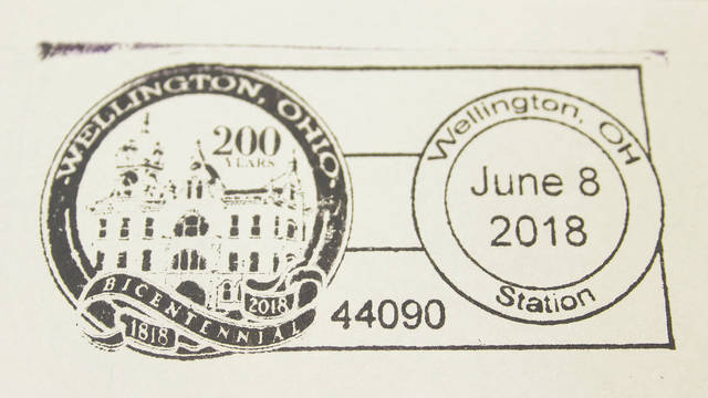 This special bicentennial stamp cancellation was available June 8 for walk-in customers at the U.S. Post Office in Wellington.