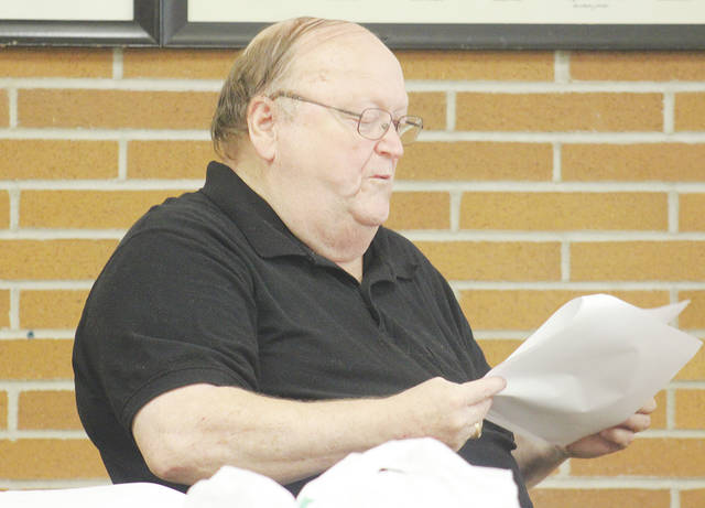 Ayers Ratliff, a member of both the Wellington and Lorain County JVS boards of education, states his opposition July 17 to a permanent improvement levy for the JVS that will go before voters in November.