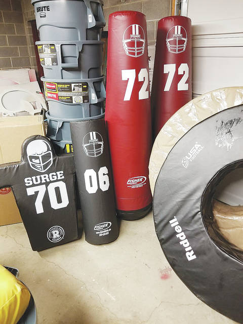 New tackling dummies and tackling rings are just some of the equipment brought in for Wellington High School football this fall thanks to donations made through the Wellington Fullbackers.