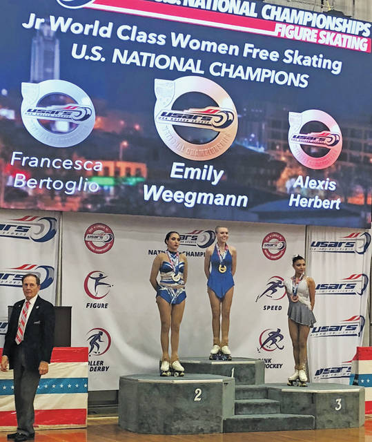 Emily Weegmann snagged a spot on Team USA after winning gold at the roller figure skating national championship.