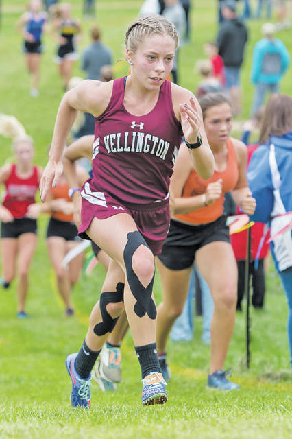 Wellington's Emily Watters comes up the hill at the JB Firestone Invitational.
