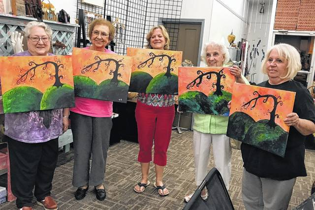 <strong>Pictured left to right is Diane Morey, Joni Jankowski, Connie Gilhooly, Evelyn Coalt and Joyce Comer.</strong>