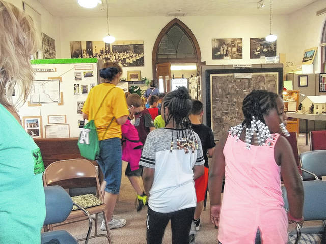 <strong>Students from Englewood Elementary enjoying a recent tour of the Randolph Township History Center.</strong>