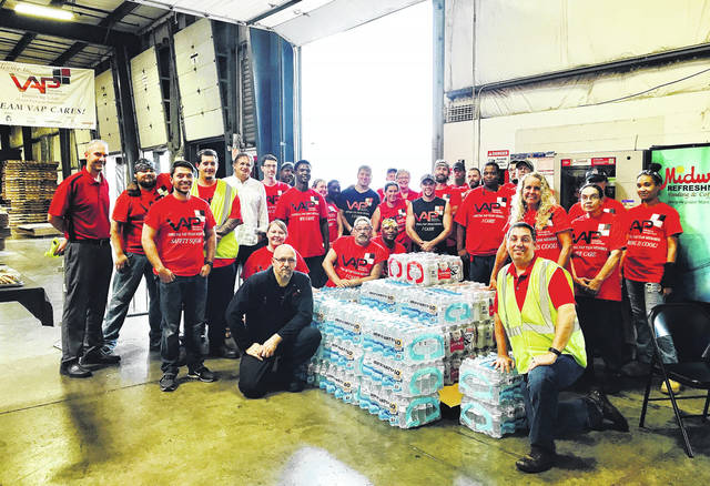 <strong>Value Added Packaging team members collected more than 100 cases of bottled water to help those affected by hurricanes in Texas and Florida.</strong>