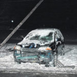 Slick roads result in accidents
