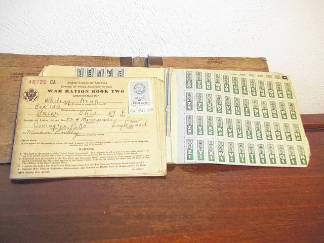 <strong>Books of ration stamps were issued to citizens during World War II. In addition to the money for the item, the purchaser had to hand over a specific number of stamps, and if the stamps for the month had been used up, the merchant was not supposed to sell the item to the person.</strong>