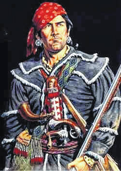 <strong>Simon Girty (1741 – February 18, 1818) was an American colonial of Scots-Irish ancestry who served as a liaison between the British and their Native American allies during the American Revolution.</strong>