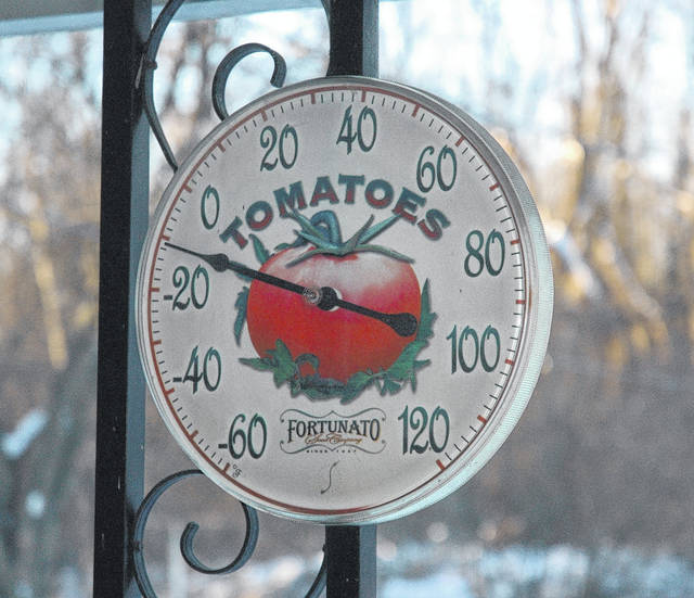 <strong>This thermometer shows the temperature had dipped to 10 below zero Tuesday morning in the Clayton area.</strong>