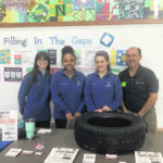 Students learn car and tire maintenance