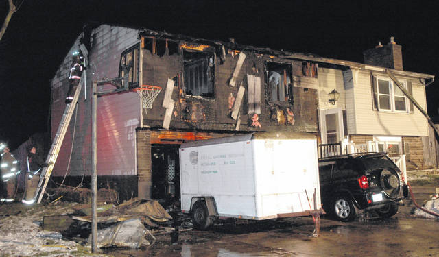 <strong>A home located at the southwest corner of Honeybrook Avenue and Afton Drive sustained extensive damage from a fire that broke out early Friday evening.</strong>