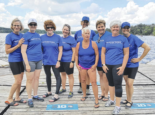 <strong>After a learn-to-row class and a novice season, rowers are ready to join the competition team. Here, the Dayton Boat Club women&#8217;s eight celebrates after a race at the Indianapolis regatta in June 2017.</strong>