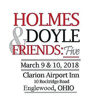 <strong>The annual Holmes, Doyle &amp; Friends gathering will be held at the Clarion Inn, 10 Rockridge Rd, Englewood on March 9 and 10.</strong>
