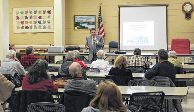 <strong>County Auditor Karl Keith speaks to property owners at a Board of Revision informational workshop.</strong>