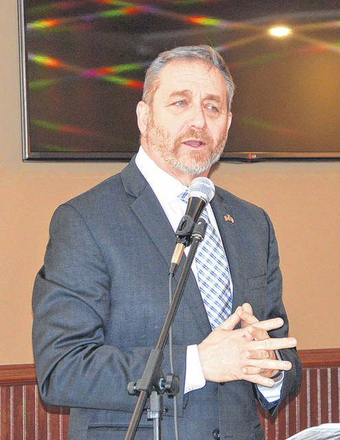 Auditor of State Dave Yost spoke at the Northern Chamber Alliance lunch last Wednesday in Huber Heights.