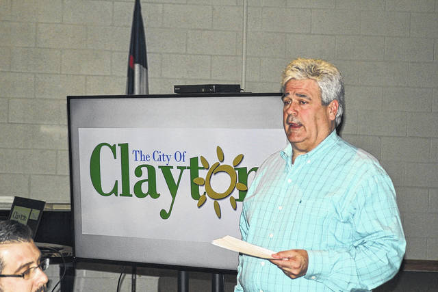 <strong>Clayton Mayor Mike Stevens told the Northmont Rotary that a focus on city infrastructure was necessary. This included addressing street issues such as repaving, curb repair, fixing potholes, etc.</strong>