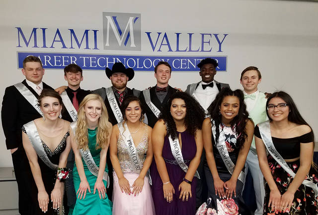 The 2018 MVCTC Prom Court is back row, left to right, Noah Rohling, Keir Wambo, Ben Lawson, Peyton Philips, Daiton Vinson-Sharp, Logan Hayes; front row, left to right, Chantel Banks, Shelby Perkins, Guadalupe Arrona, Christina Johnson, Keara Tellis, and Morelia Balli.