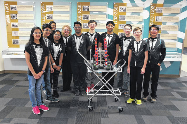 <strong>Coached by Mr. Terence Chu (Englewood), Mrs. Caroline Buckey (Fairborn), and Mrs. Subha Suresh (Mason), PowerStackers is made up of middle school and high school students, ranging from 8th-11th grade. These students are Krishna Suresh, Brandon Young, Rayhan Nazir, Vishnu Avanthsa, Lakshmi Avanthsa, Andrew Sakemiller, Kaavya Ramachandhran, and Benjamin Gregory.</strong>