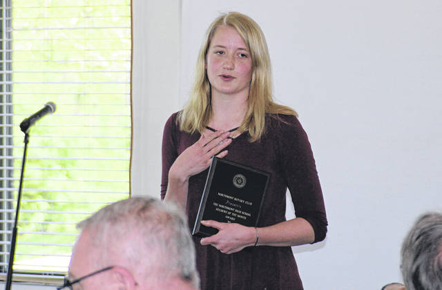 <strong>Alison Hamant was named the Northmont Rotary Student of the Month.</strong>