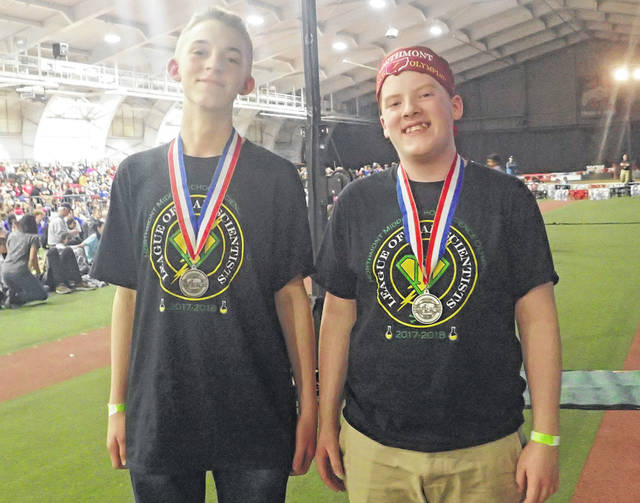 "<strong>Northmont eighth graders Connor Zechar and Ben Loudenslager brought home second place medals for ""Dynamic Planet"" at the Science Olympiad State Competition held at the Ohio State University last Saturday.</strong>"