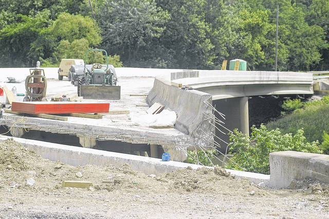 <strong>Rehabilitation work continues on the Old Springfield Road bridge.</strong>