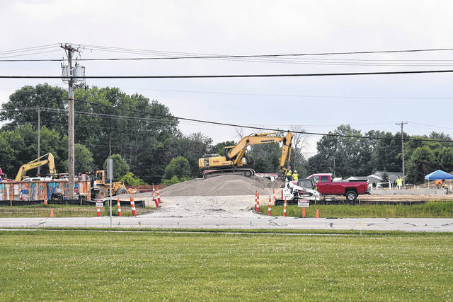 <strong>Construction of a new Casey's General Store is currently under way at the corner of State Route 49 and Union Road.</strong>