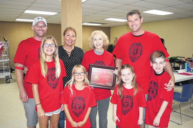 <strong>The Davenport family at the 2018 Officer Bill Davenport Memorial Blood Drive.</strong>