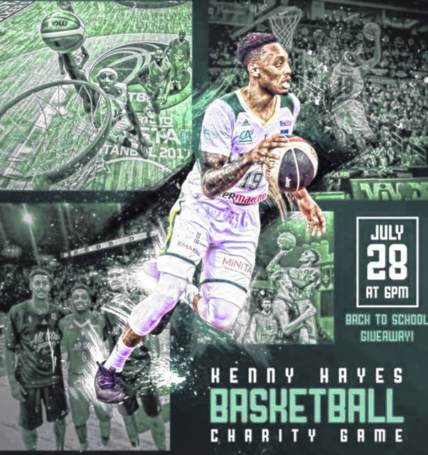 <strong>The first ever Kenny Hayes charity basketball game, sponsored by 9teenWay and Be, will be played Saturday, July 28 at 6 p.m. at the Thunderdome at Northmont High School.</strong>