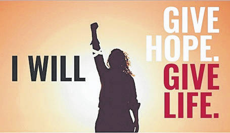 <strong>The Community Blood Center's 'I Will Give Hope. Give Life' graphic.</strong>