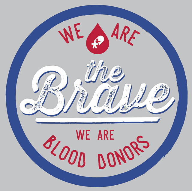 <strong>Community Blood Center&#8217;s &#8216;We Are the Brave &#8211; We Are Blood Donors&#8217; T-shirt design.</strong>