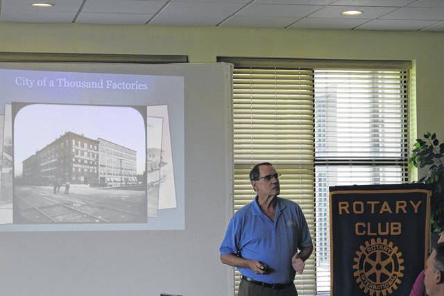 <strong>Jim Charters, local expert on Dayton Inventions, spoke to the Northmont Rotary about the history of Dayton and its inventors.</strong>