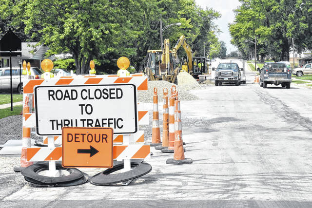 <strong>West Martinldale Road now has a road closed sign up just west of Merrymaid Drive as water main replacement work continues up to Shaw Road.</strong>