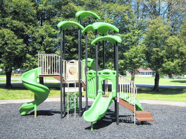 "<p class=""xmsonormal""><strong>The new playground equipment and surfacing installed at the government center park next to the library was purchased with a grant provided by the Montgomery County Solid Waste District.</strong>"