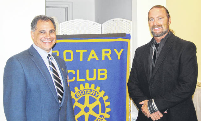 <strong>Shown with Northmont Head Football Coach Tony Broering (right) is Rotary President and Northmont Superintendent Tony Thomas.</strong>