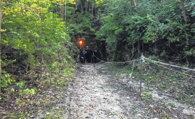 <strong>The path leading to the entrance of Lewisburg&#8217;s infamous Haunted Cave, voted the best haunt in the country by the <em>USA Today</em> &#8211; 10 Best Reader&#8217;s Choice poll.</strong>