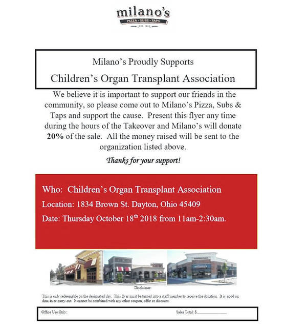 <strong>Click on this photo, print it out and take it to Milano&#8217;s at 1834 Brown Street in Dayton to help raise funds for the Children&#8217;s Organ Transplant Association, which will assist Union resident Shane Robison with a life-saving lung transplant due to his lifelong battle with Cystic Fibrosis.</strong>