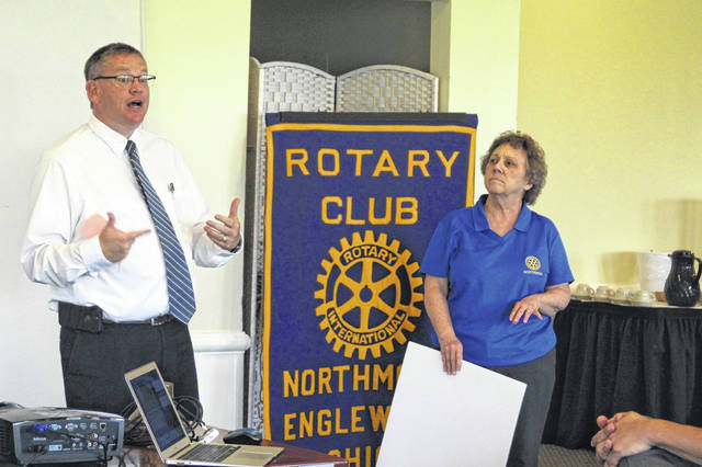 <strong>The Northmont Rotary is well under way with planning of its annual auction. Under the leadership of Co-chairs Scott Rolfes (left) and Cathy Hutton (right), members are gathering donations of items and cash for this community event. Tickets (admits two people) can be obtained from any Rotary member for $25 or at the door. </strong>