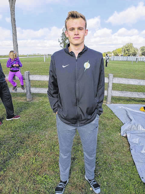 <strong>Isaac Studebaker qualified for the regional meet by placing 19th overall at the OHSAA Southwest District cross country race Saturday at Cedarville.</strong>