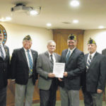 Post 707 officers receive proclamation