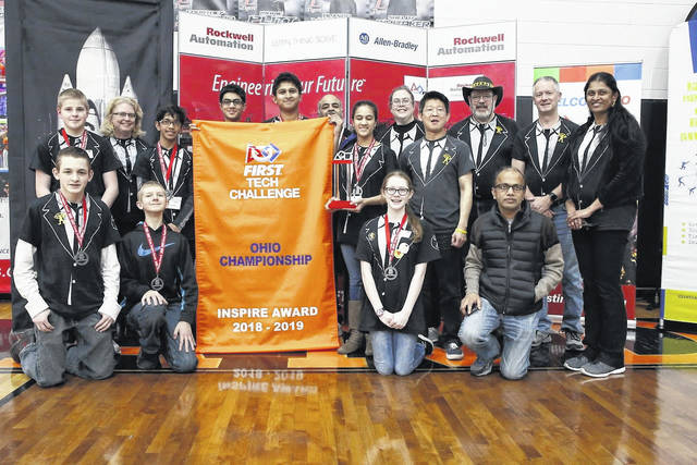 <strong>Front row from left to right: RJ Sells, Ethan Hile, Corinne Pickl, Vipin Gupta. Back row from left to right: Josh Flannery, Caroline Buckey, Neev Gupta, Vishnu Avathsa, Krishna Suresh, Rao Avanthsa, Lakshmi Avanthsa, Terri Pickl, Terence Chu, Bill Pickl, Darrin Hile, and Subha Ambigapathy.</strong>