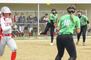 Lady Bolts hold off late inning Troy rally